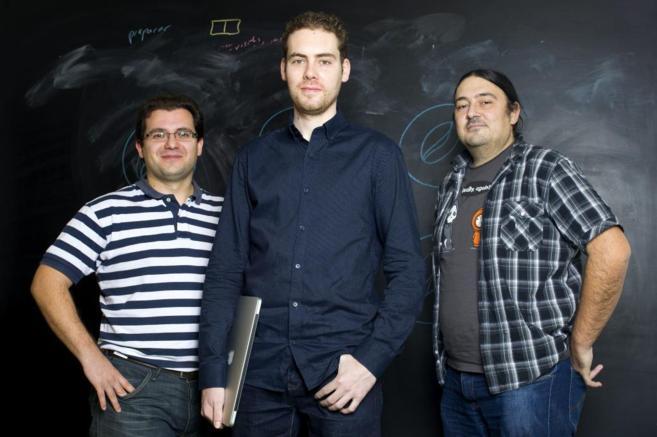 El equipo de Coinffeine, formado por Sebastián Ortega, Alberto Gómez...