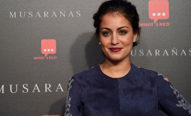 La actriz Hiba Abouk, en el estreno de la película...