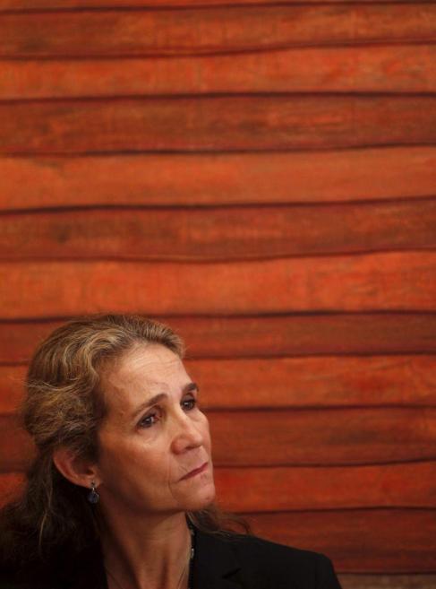 La Infanta Elena, durante un acto de la Fundación Mapfre.