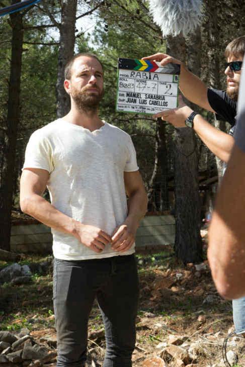 El actor Carles Francino, durante una de las jornadas de rodaje.