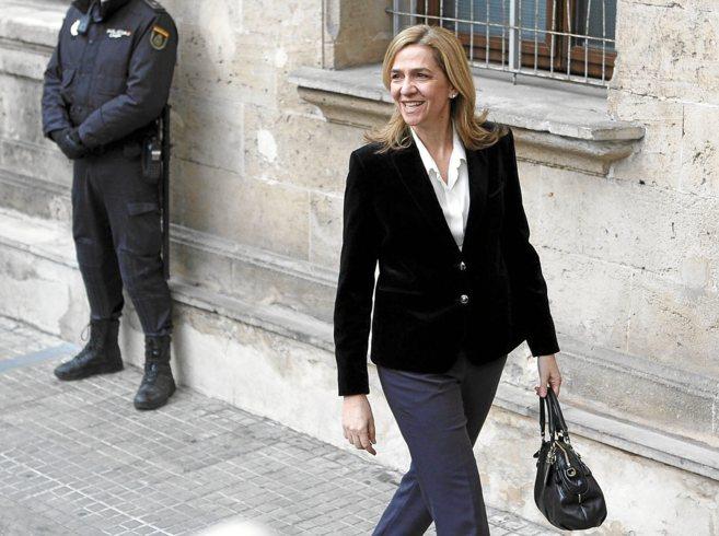 La Infanta a su llegada a los juzgados de Palma el pasado mes de...