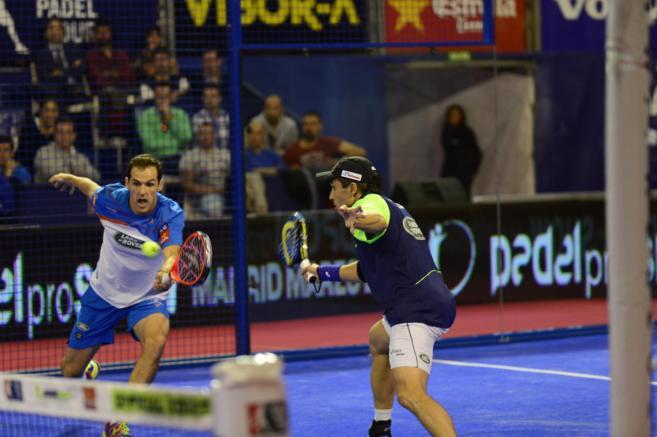 Juan y Bela, durante la final del Masters Finals en Madrid.