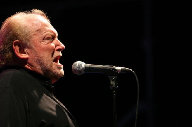 El cantante durante un concierto en Palma de Mallorca.