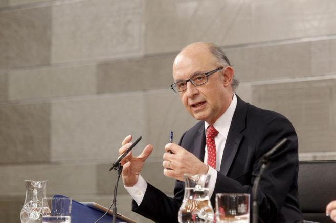 Cristóbal Montoro, en rueda de prensa tras el último Consejo de...