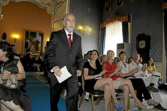 Miguel Valor, durante su toma de posesión como concejal de Cultura...