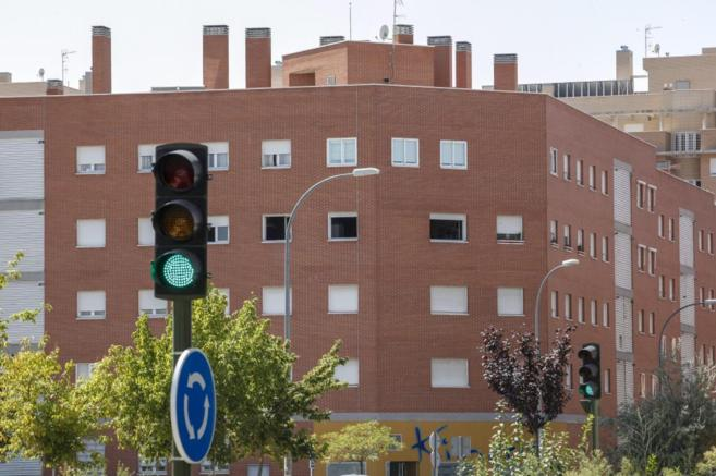 Imagen de un bloque de viviendas en la Comunidad de Madrid.