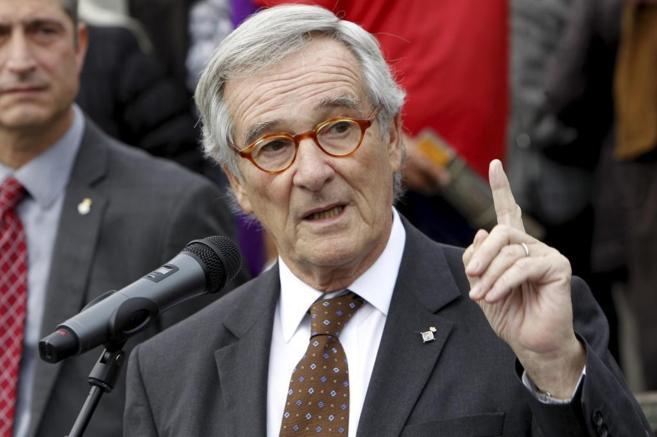 El alcalde de Barcelona Xavier Trias inagura una placa en homenaje a...