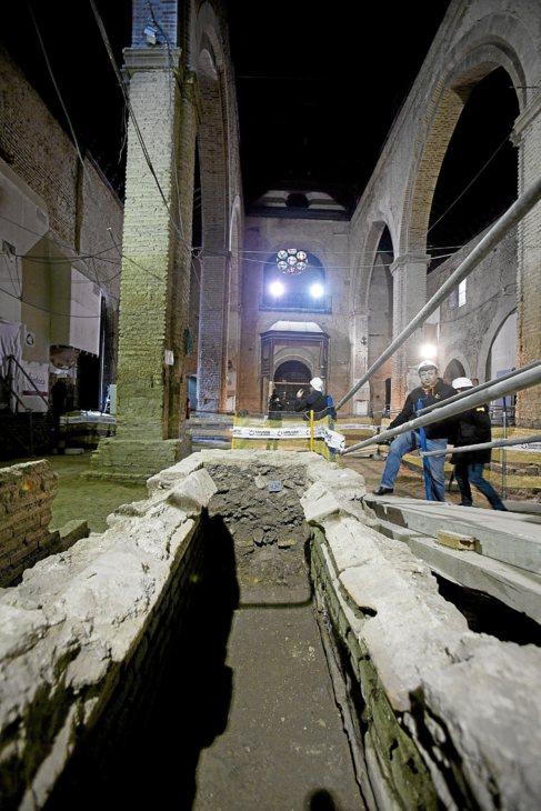 Vista del interior de la iglesia en la actualidad.