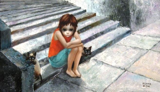 Resultado de imagen para pintura de niña con ojos grandes