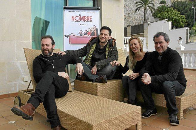 Antonio Molero, César Camino, Kira Miró y Jorge Bosch, ayer, durante...