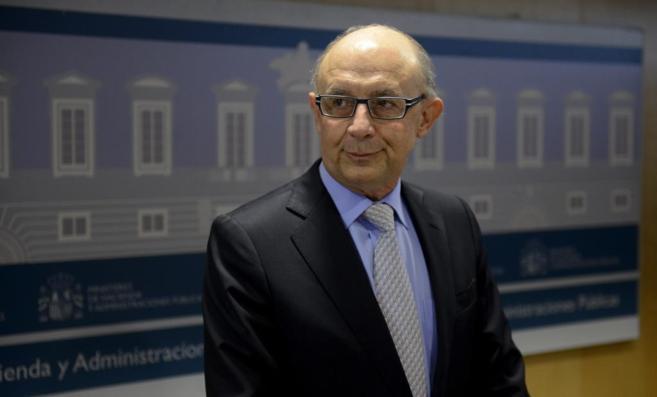El ministro de Hacienda, Cristóbal Montoro, el pasado miércoles.