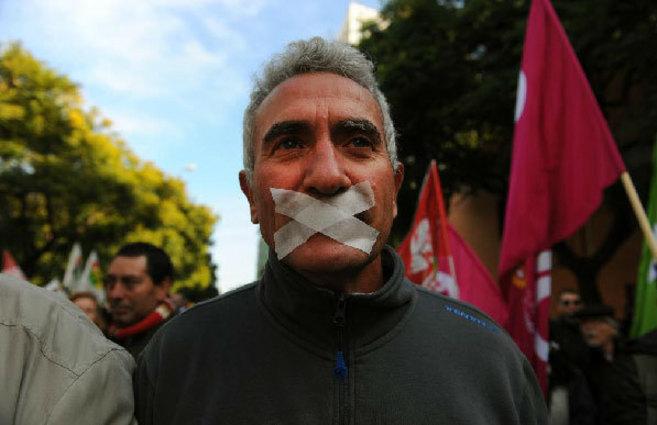 El secretario general del SAT, durante una manifestación en Sevilla...