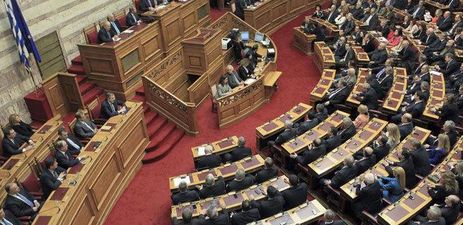 El Parlamento griego tras la votación en la que no se ha elegido...