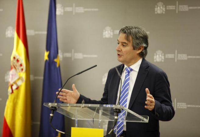 Rubén Moreno, secretario General de Sanidad, durante la rueda...