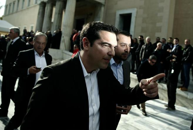 Alexis Tsipras, líder del partido de izquierdas Syriza.