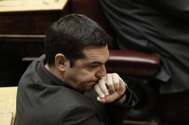 El líder del opositor partido Syriza, Alexis Tsipras, en el...