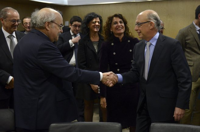 El 'conseller' de Finanzas de la Generalitat, Andeu...