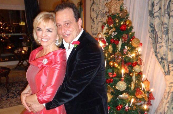 El fiscal Pedro Horrach y Ana Zacher, en el cóctel que organizaron en...