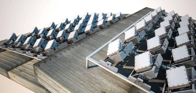 Las placas solares que imitan al girasol son idea de Solarays.