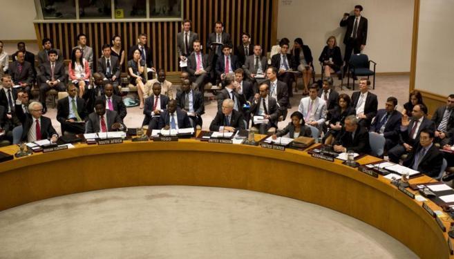 El Consejo de Seguridad de la ONU, durante la votación sobre la...