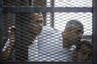 Los periodistas de Al Jazeera, el pasado junio.