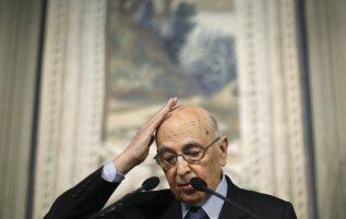 Napolitano, durante una comparecencia.