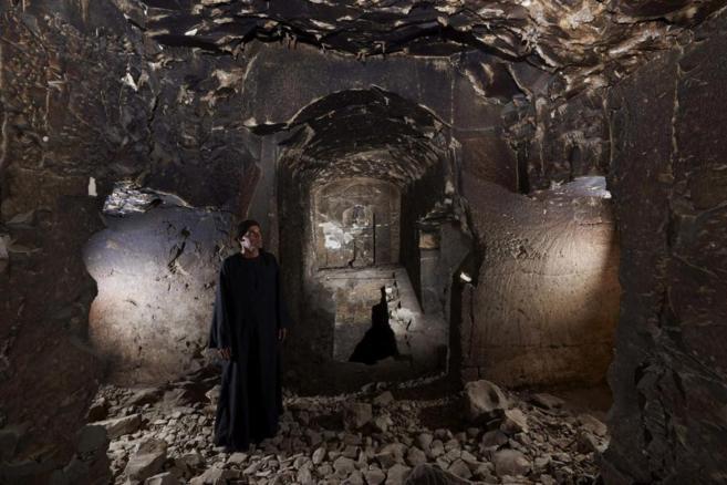 Interior de la réplica de la tumba dedicada al dios Osiris hallada...
