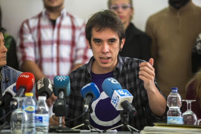 El candidato ganador a la secretaría de Podemos en Málaga, José...