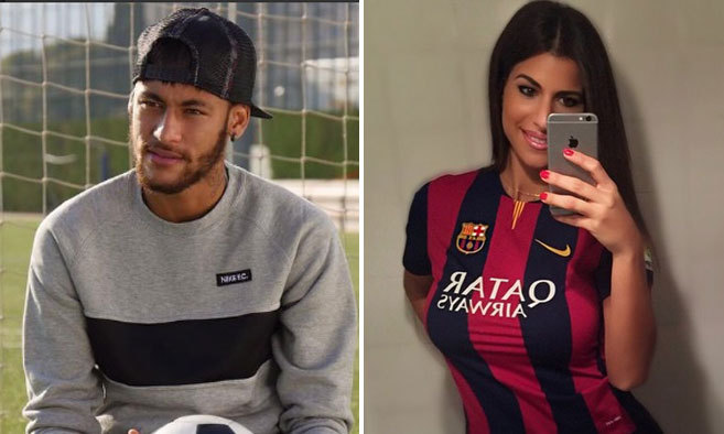 Neymar y Elisabeth