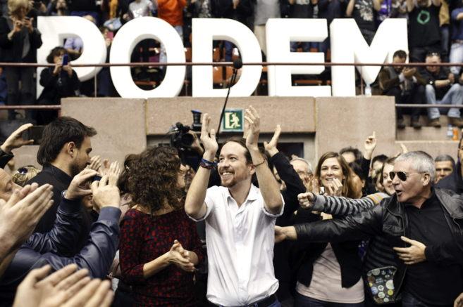 Pablo Iglesias, en un mitin en Barcelona en diciembre.