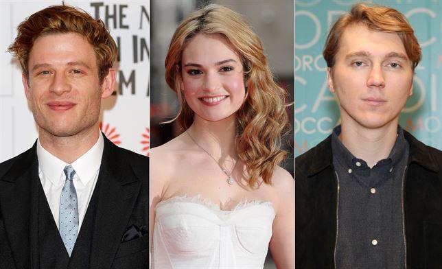 James Norton, Lily James y Paul Dano (de izquierda a derecha)...