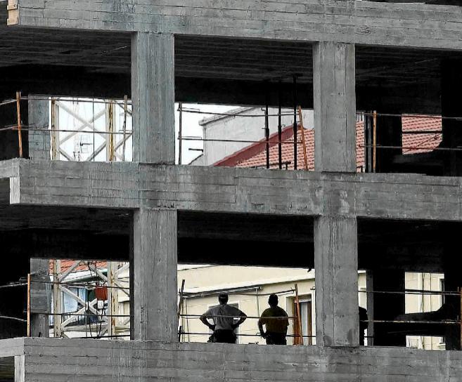 Viviendas en construcción en el País Vasco.