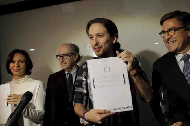 Pablo Iglesias, durante la presentación del programa económico de...