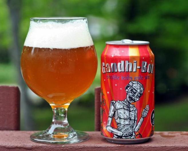 Imagen de la cerveza estadounidense 'Gandhi-Bot', que...