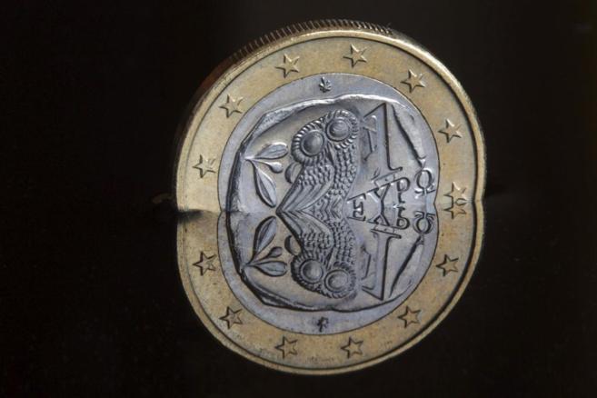 Una moneda de euro con motivos griegos.
