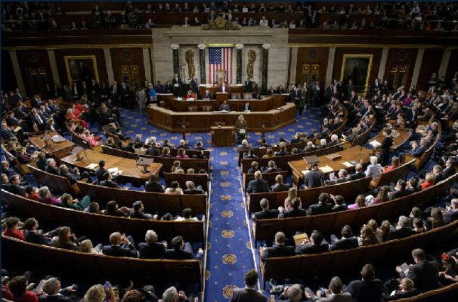 Sesión en la Cámara de Representantes, hoy en Washington. | AFP