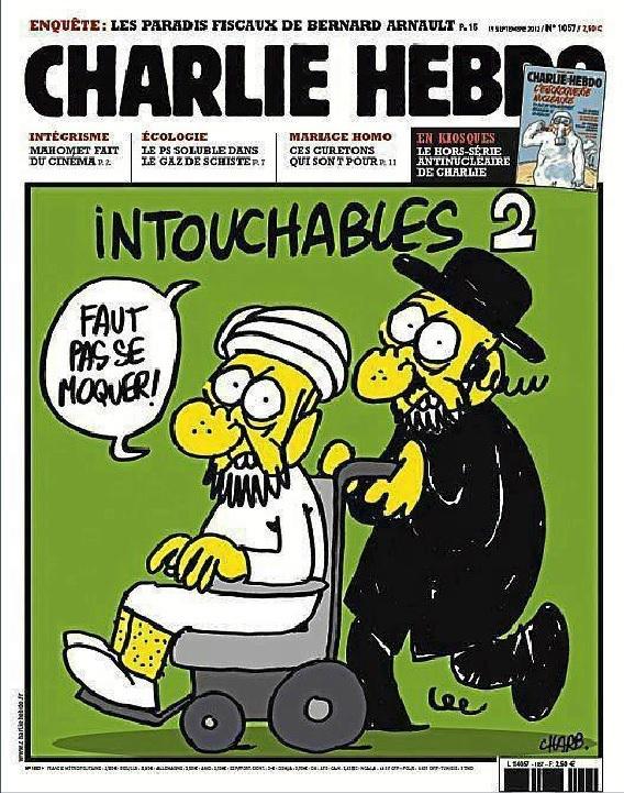 Una de las portadas del semanario satírico Charlie Hebdo sobre Mahoma