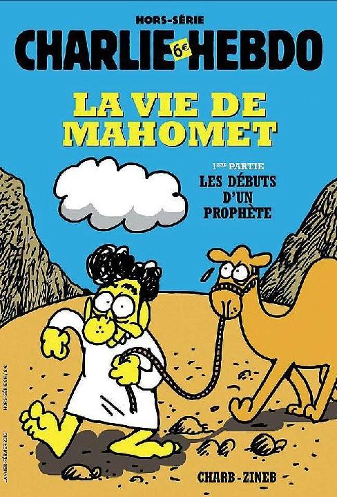 """Otra de las portadasdel semanario """"Charlie Hebdo"""" con una caricatura..."""