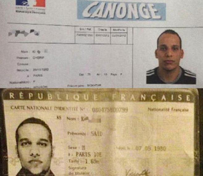 Dos de los sospechosos identificados, los hermanos franceses Chérif y...
