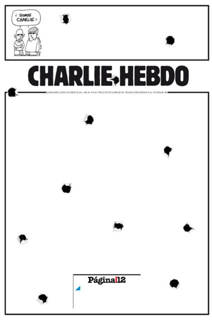 La portada del diario argentino Página 12 ha centrado toda su...