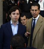 Francisco Nicolás acompañado por su abogado a la salida de los...
