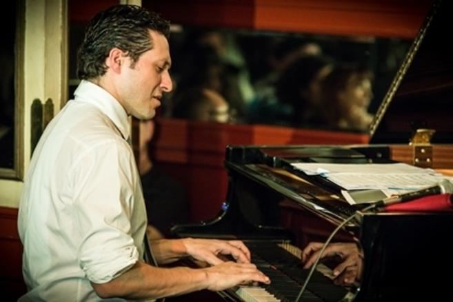 El pianista Sebastián Chames durante el concierto del pasado martes.