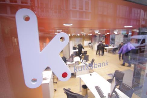 Imagen de archivo del interior de una oficina de Kutxabank.