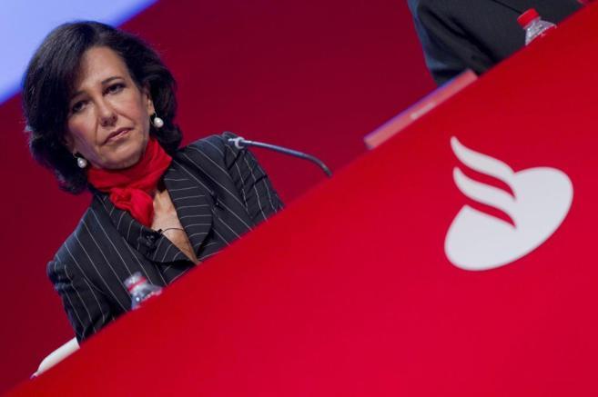 Ana Patricia Botín, presidenta del Banco Santander, en la última...