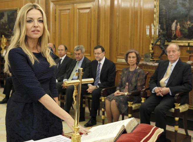Ángeles Carmona, durante el acto de jura como vocal del CGPJ.
