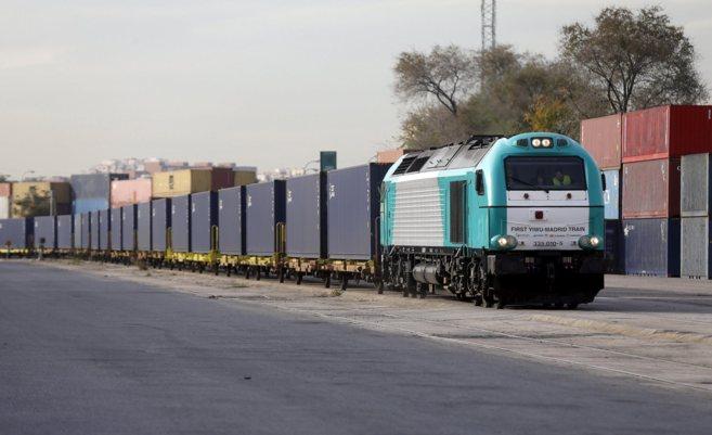 Llegada del primer tren de mercancías directo entre China y España.