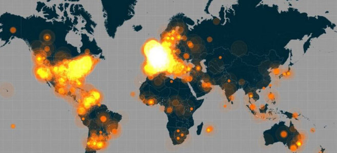 Mapa del impacto del hashtag en el mundo | Twitter Data