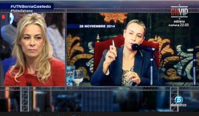 Una imagen del programa en el que han entrevistado a Sonia Castedo,...