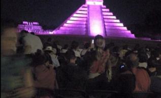 Imagen de la presunta Letizia en Chichén Itzá.