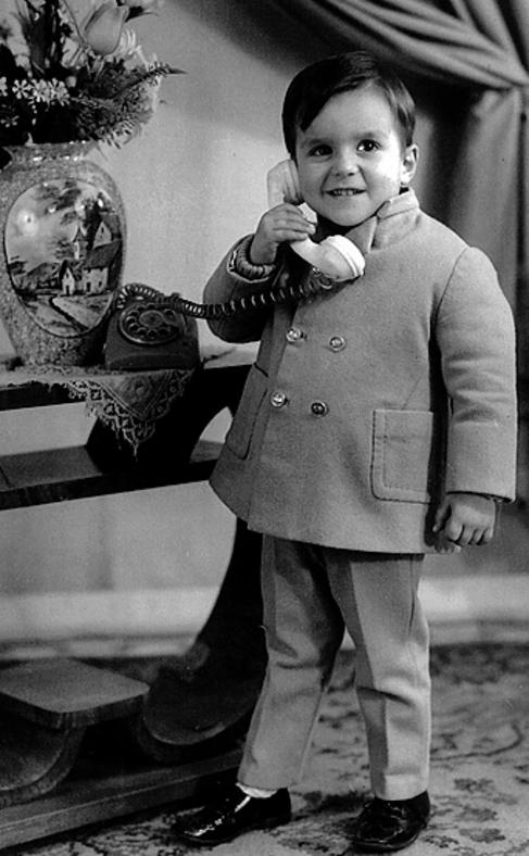 Jorge Méndes, cuando era niño.